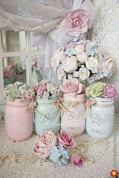 Flowers mason jar