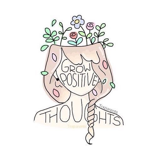 I really love this because it's not telling you to think positive but rather to plant seeds of positivity so that they will grow bigger and bigger. Tend to your mind like a garden.