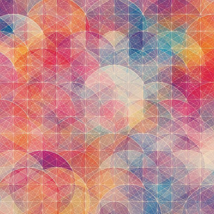 美しい幾何学模様の壁紙6(iPad用/1024×1024)