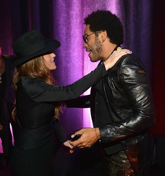Lisa Marie Presley and Lenny Kravitz attend the 2013 CMT Music Awards After Party at Rocketown on June 5 2013 in Nashville Tennessee
