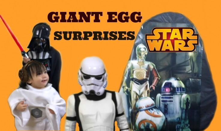 Disney Star Wars The Force Awakens Giant Egg Surprise Toys Opening Darth...