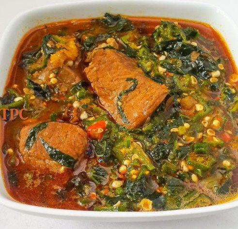 Fresh and tasty okro soup, okra soup