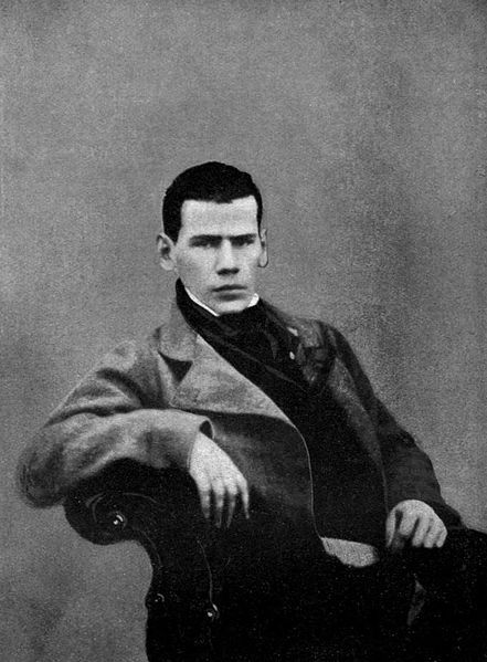 Leo Tolstoy at age 20, 1848