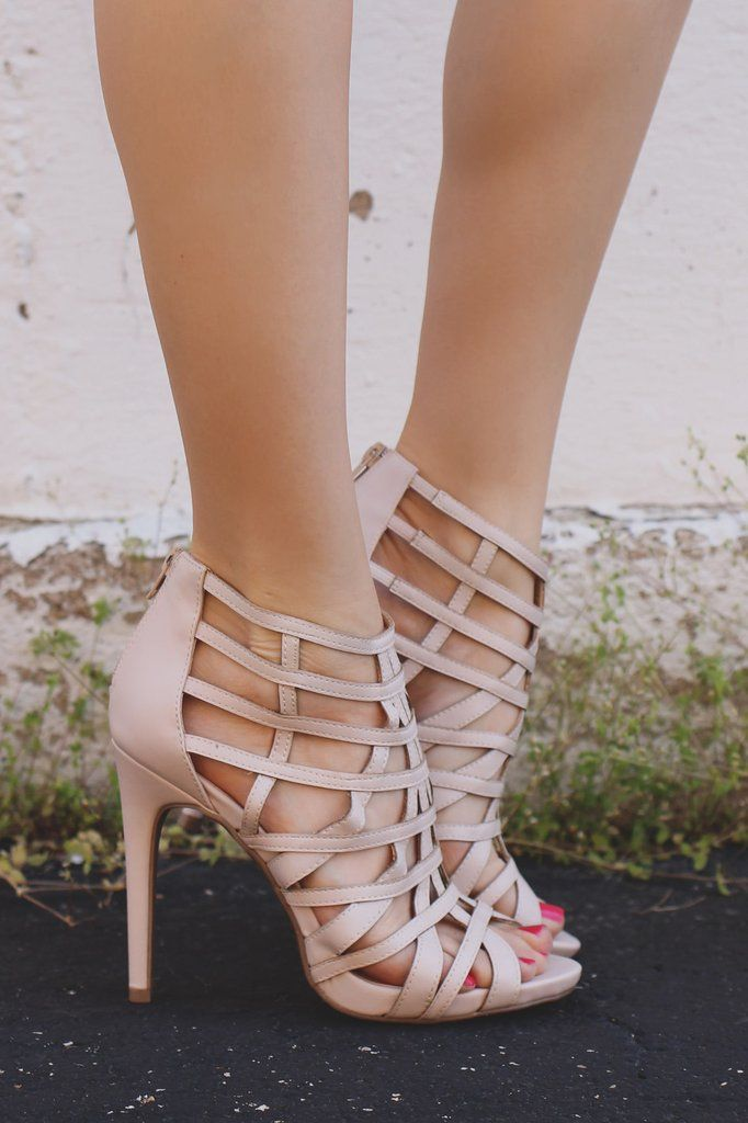 Platform Strappy Zipper Back Stiletto Heels Evelyn-41                                                                                                                                                                                 More