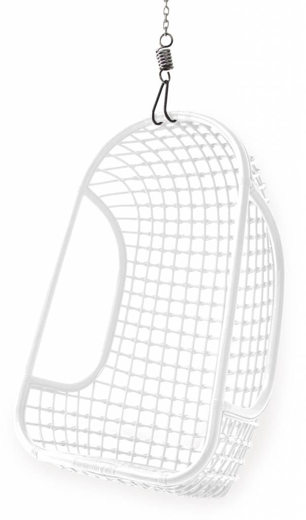 HKliving Hanging Chair Rattan white