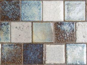 Antiek glazuur mozaïek tegels 2.5x2.5 cm