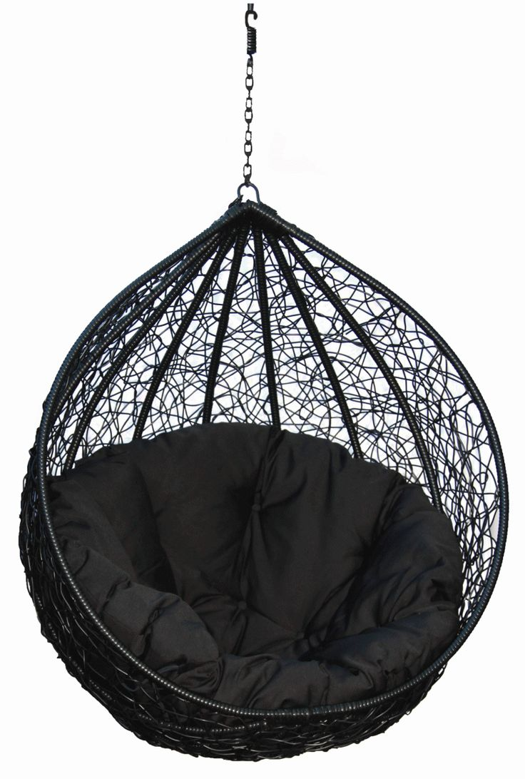 Hanging Chairs For Your Inspiration Fancy Black Eclipse Hanging Egg Chair  Combine With Black Fabric Hanging Part 38