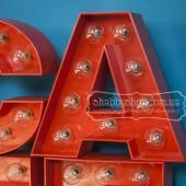 буквы с подсветкой Киев, буквы с лампочками Киев