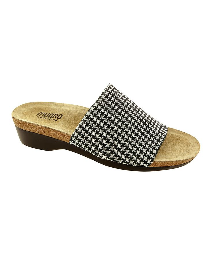 Munro Shoes Houndstooth Stretch Aquarius II Slide by Munro Shoes #zulily #zulilyfinds