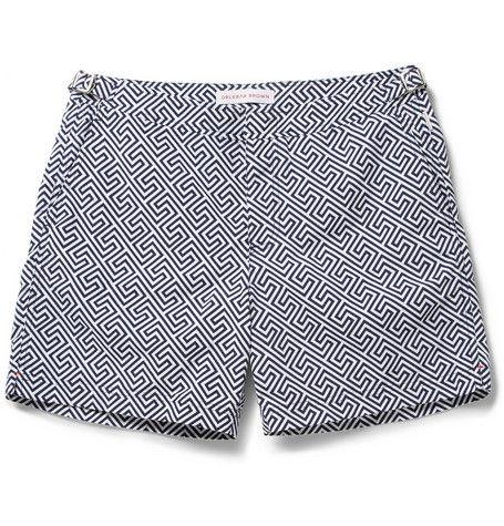 Orlebar Brown Bulldog Mid-Length Printed Swim Shorts+ +MR PORTER