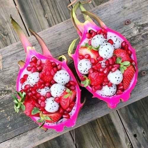 Dragon fruit & pomegranate