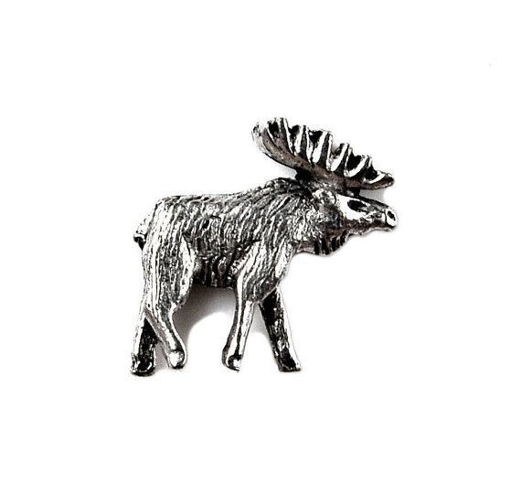 • $15 • Moose Lapel Pin  100% money back guarantee in service and quality  Quick shipping with Delivery Confirmation  Beautiful gift box included