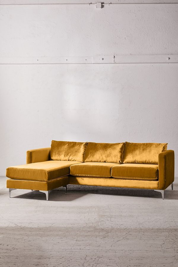 10 Mustard Yellow Sofas For A Mid Century Modern Vibe Velvet Sectional Yellow Sofa Yellow Couch
