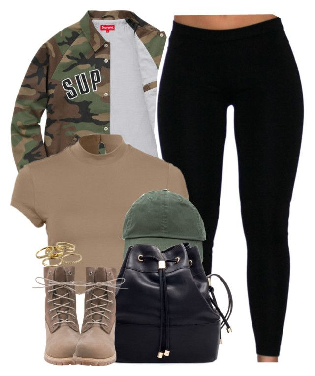 """Supreme being ."" by cheerstostyle ❤ liked on Polyvore featuring Timberland and Kendra Scott"