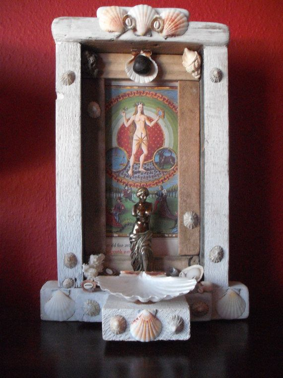 Altars:  Rustic Love #Shrine, by Wild Wizard Crafts.