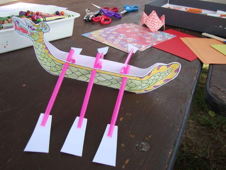 Dragon Boat Craft So Simple And With Basic Materials Www