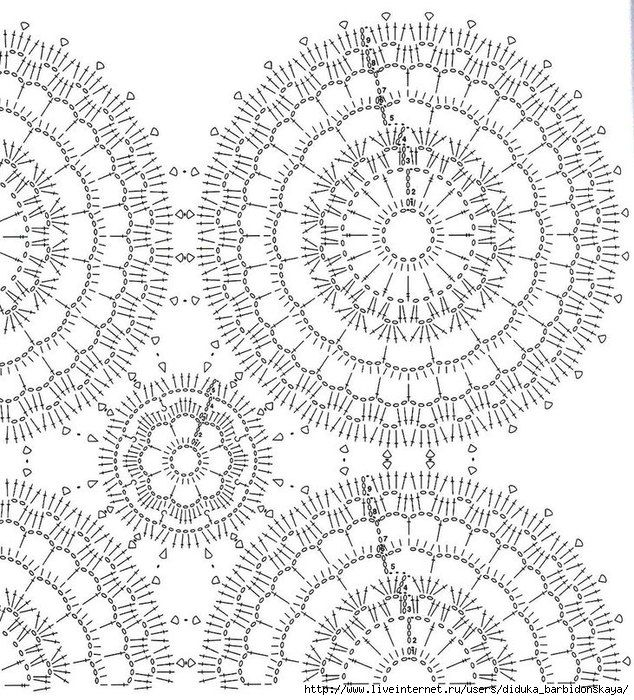 салфетки крючком из круглых мотивов осинка: 17 тыс изображений найдено в Яндекс.Картинках