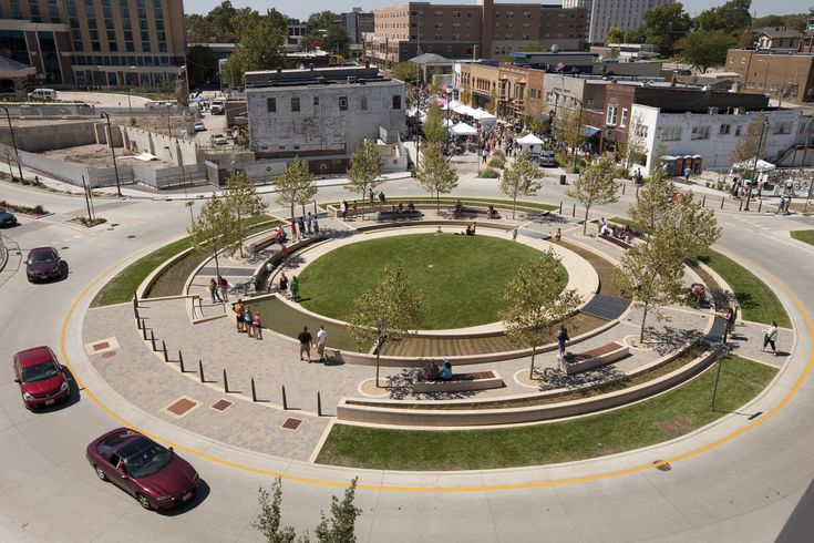 Roundabout with parc inside