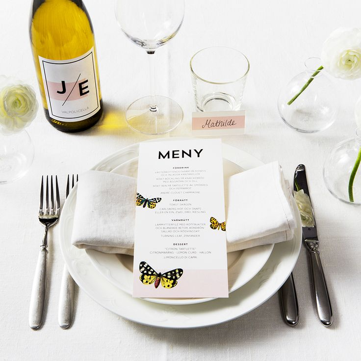 Butterfly Table Setting - www.postedwithlove.com