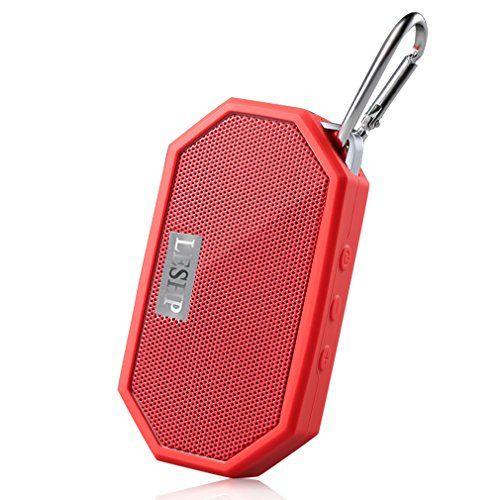 Cheap Waterproof Bluetooth Speaker - LESHP Portable Bluetooth CSR V4.0 Travel Speaker with 3.5mm Audio Interface/Mic/Hands-Free Speakerphone - Black Camouflage Red White Best Selling
