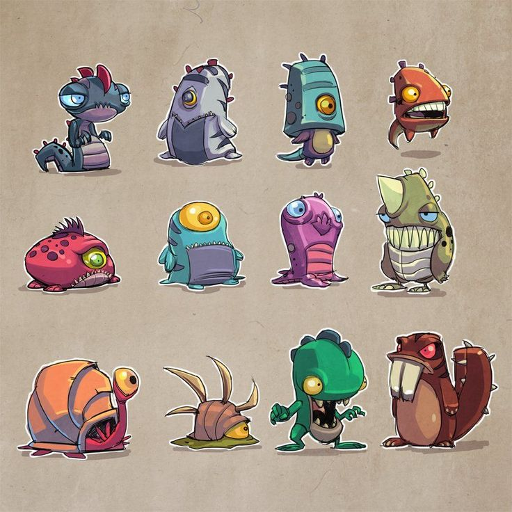 Cartoon Characters Monsters : Images about small monsters on pinterest aliens