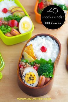 40 snacks under 100 calories -Daily Fit Hit: a list of 40 snacks under 100-calories so you can always make the right choice