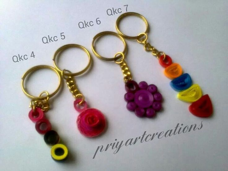 Quilling Keychains Quilling