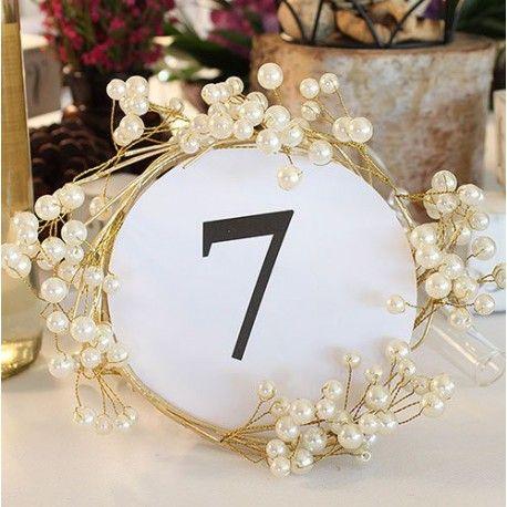 La couronne de table perles et or