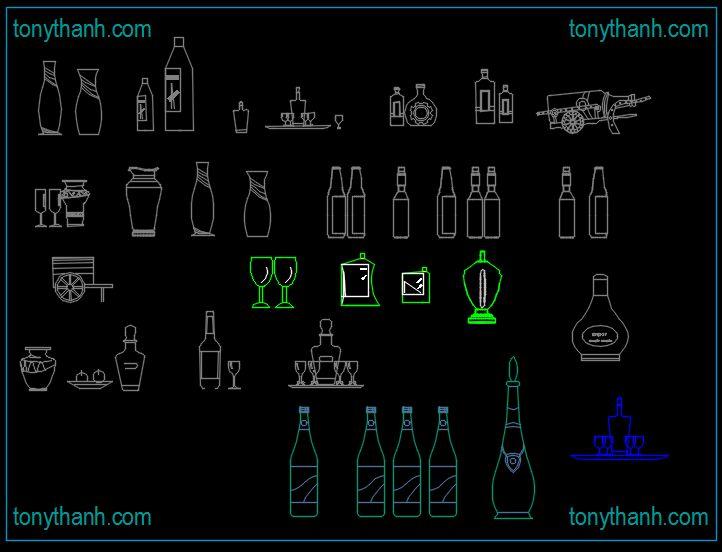 Wine cellar cad gambar download, cad gambars botol anggur