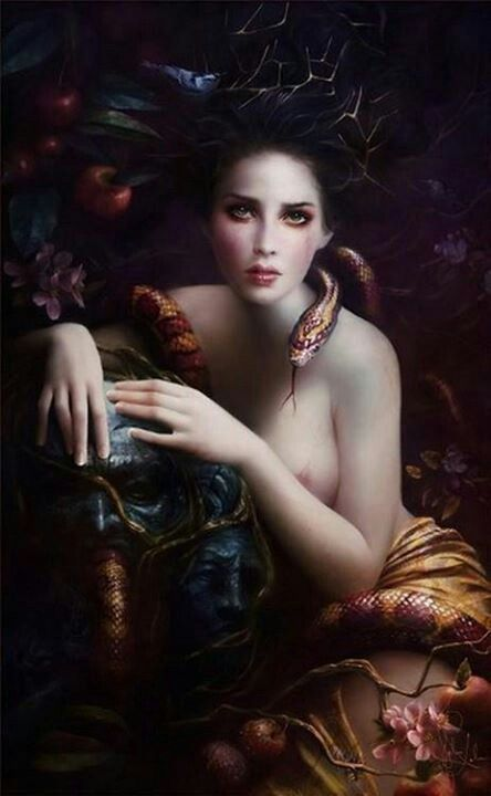 Lamia- often associated with Medusa or Lilith, she was a snake goddess from Crete who ruled the Underworld.