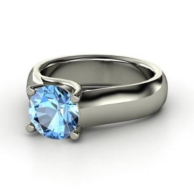 Crisscross Round Solitaire Ring - YES!14K Rose, Blue Topaz, Crisscross Round, Solitaire Rings, Palladium Rings, Platinum Rings, Round Solitaire, Rose Gold Rings, Bling Bling