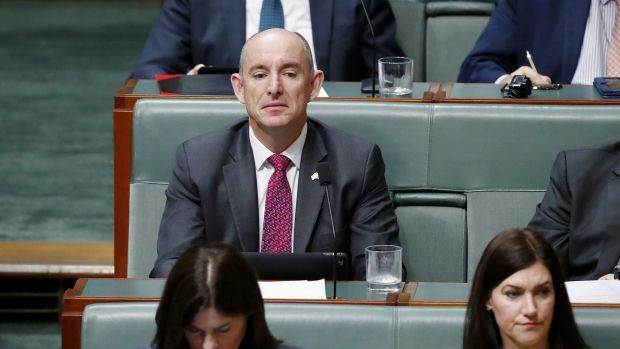 Coalition MP Stuart Robert at Parliament House in Canberra on Wednesday.