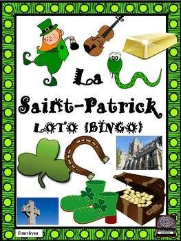 FRENCH  – la Saint-Patrick - LOTO – Saint Patrick's Day BINGO - 35 BOARDS