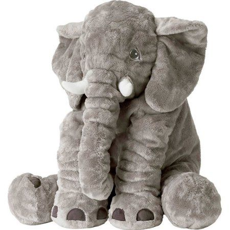 Animals pillow Grey Elephant Stuffed Plush Pillow Pals Cushion Plush Toy Cute Baby Pillow Cushion for Children's Image 3 of 8
