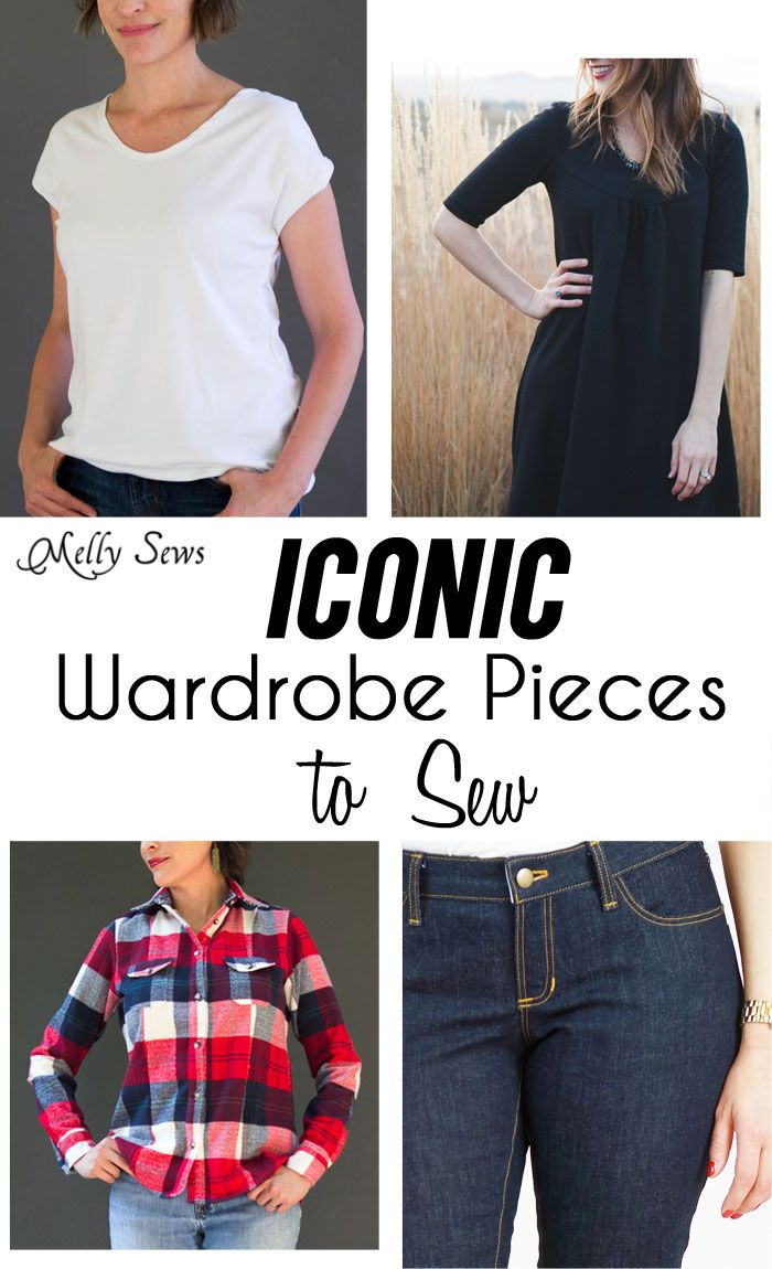 4 Iconic Wardrobe Staples to sew - essential garments for your wardrobe and sewing patterns to make them