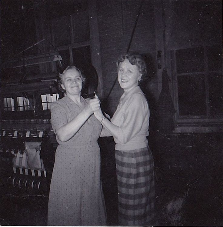 Old Vintage Antique Photograph Two Women In Factory