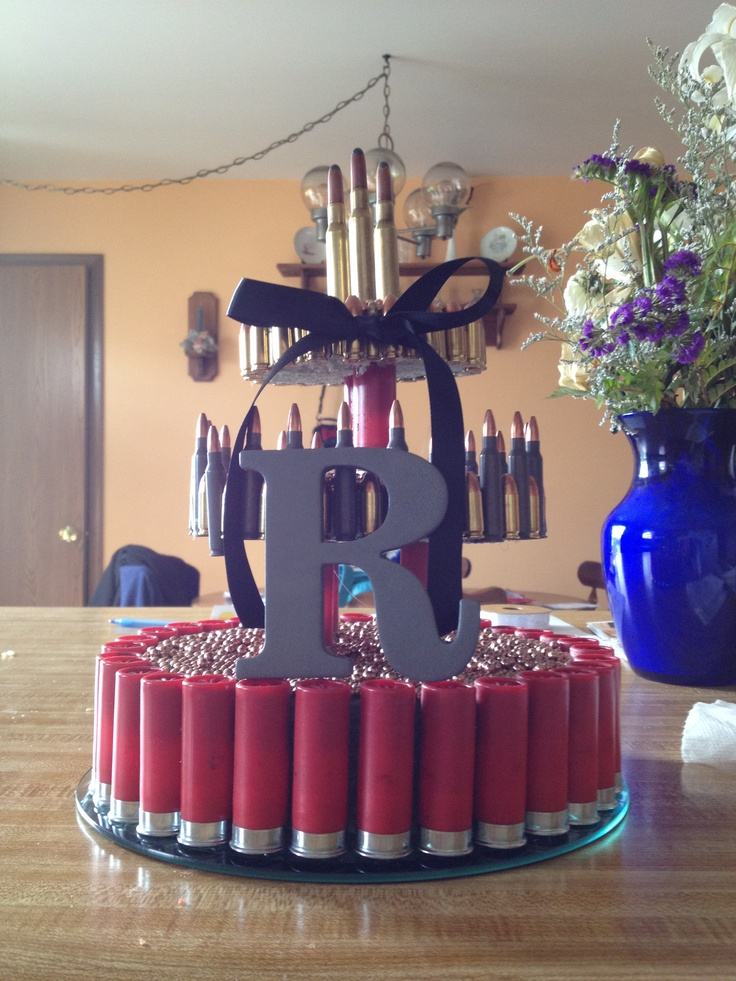 Ammo Cake For A Bachelor Party Made Of Real Ammo No
