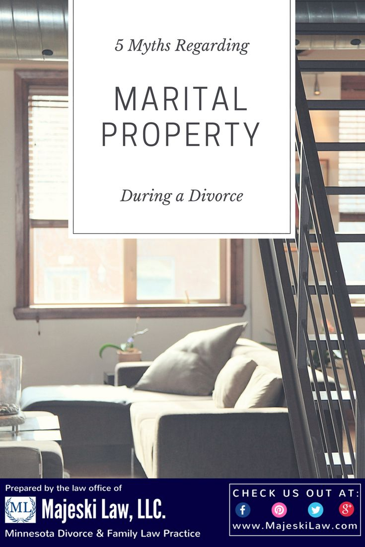 5 Myths Regarding Marital Property Division in
