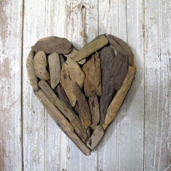 Beach Decor, Driftwood Heart, $25