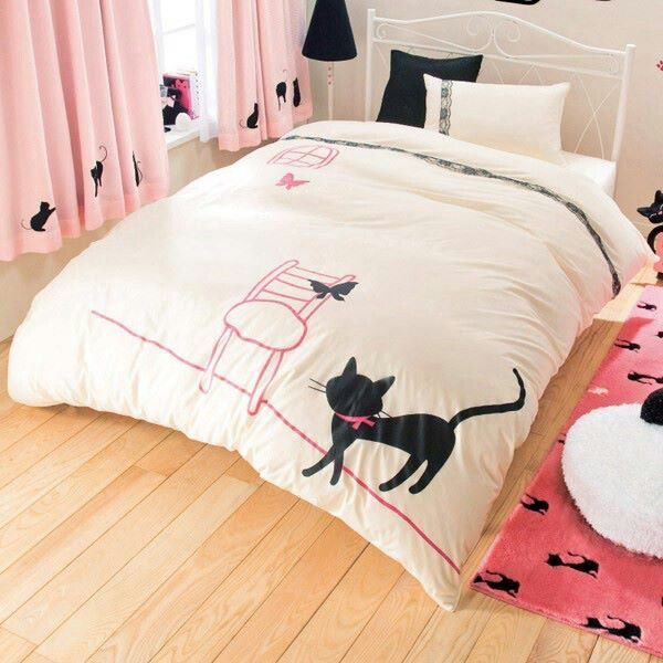 12 best bed sheets images on pinterest comforters cat stuff and comforter. Black Bedroom Furniture Sets. Home Design Ideas