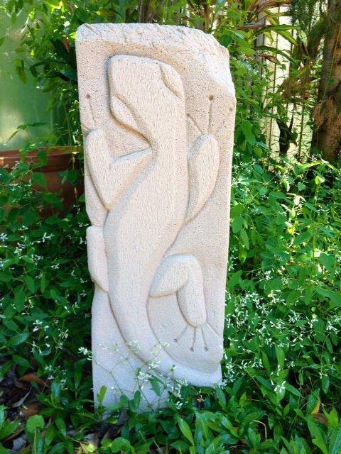 Gecko carving by me facebook - hebel designs