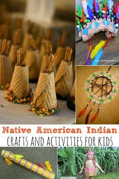 Native American Indian Crafts and Activities for Kids to create in the month of November. Perfect for Thanksgiving Day Crafts! - abccreativelearning.com