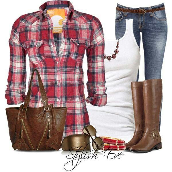 Fall fashion. I have very similar boots that I love.