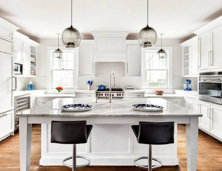 Kitchen Island Pendant Lighting And Kitchen Counter Pendant Lighting Come  Together In This Modern Interior