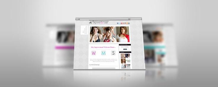WifeMomSuperwoman Mommy Blog Wordpress Website - BMays Graphic Design