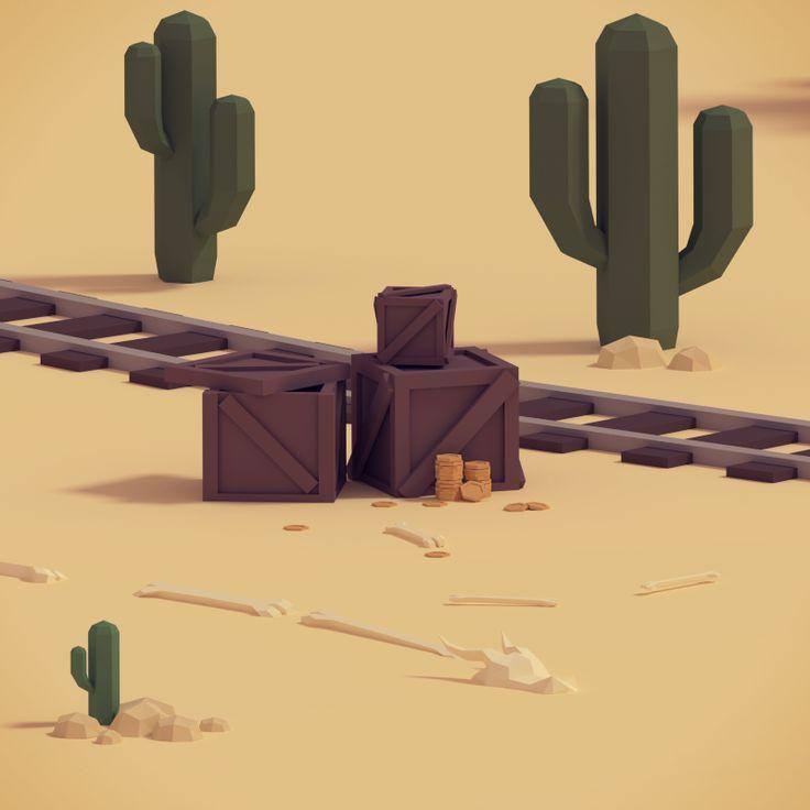 Low poly 3D game design - Blender - Wioletta Orłowska