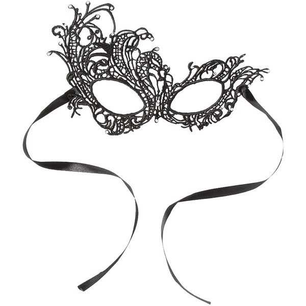 Black Lace Halloween Mask ($6.84) ❤ liked on Polyvore featuring costumes, lace costume, masquerade halloween costumes, elegant costumes, elegant halloween costumes and masquerade costume