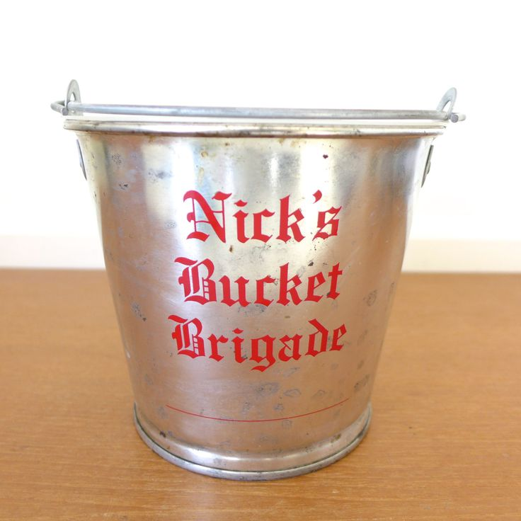 Nick's Bucket Brigade bucket, Nick's English Hut, Bloomington, Indiana by Sweetpotatojack on Etsy