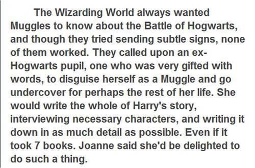 Of course this is what happened.. in which case I will be expecting my apology letter from Hogwarts any day now for not giving me my letter