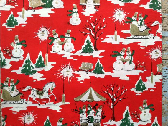 462 Best Vintage Christmas Wraps Images On Pinterest